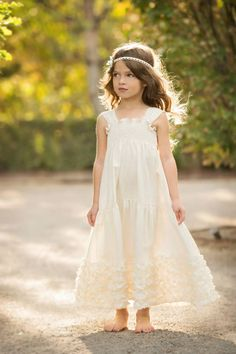 Persnickety White Eleanor Dress for Girls  $110.00