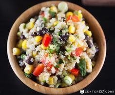 Southwest Quinoa Salad. I would love to try this, but I really, really, really dislike black beans. I will swap them out for pinto beans. Or maybe lima beans? Whatever I use it will be so good.  I love quinoa!