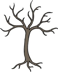 tree without leaves coloring page Printable Pinterest Leaves
