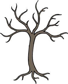Printable Large Flower Leavestemplate | Bare Dead Tree clip art - vector clip art online, royalty free ...