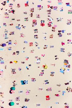 Gray Malin // Bondi Beach ...the pink sands are glittered with candy-colorful bather confetti