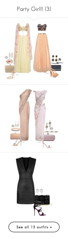 """""""Party Girl!! (3)"""" by foreverforbiddenromancefashion ❤ liked on Polyvore featuring L'Agent By Agent Provocateur, Rodo, Jimmy Choo, Casadei, Christian Louboutin, Chanel, Piaget, Marchesa, Bottega Veneta and Gianvito Rossi"""