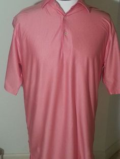 Commemorate Breast Cancer awareness! Men's Pink Peter Millar Golf Polo Size Large #PeterMillar #PoloRugby