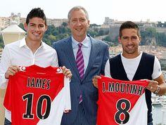 James Rodríguez & Joao Moutinho, Monaco As Monaco, Premier League, James Rodriguez, European Football, Sports, Cher, Portugal, Tops, Amazing