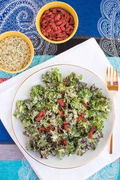 SIMPLE SALAD SERIES: Kale Caesar Salad {dairy free+gf} — The Food Click