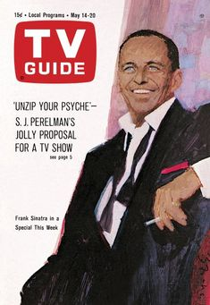 Frank Sinatra TV Guide cover art by Bernie Fuchs, Storyboard, Classic Singers, 20 Tv, Real Tv, Magazine Ads, Magazine Covers, Old Tv Shows, Vintage Tv, Tv Guide