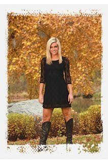 Amazon.com: Cowgirl Tuff Western Dress Womens 3/4 Sleeve Lace Black F00063: Clothing