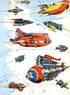 Playboy's do it yourself rocket ship papercraft - Designed by Kerig Pope, illustration by Ron Villani. From Playboy, December 1977 Pulp Fiction, Science Fiction, Cartoon Spaceship, Retro Rocket, Ship Drawing, Retro Futuristic, Sci Fi Art, Dieselpunk, The Future Is Now