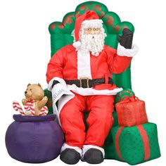 Lifesize Realistic Santa Animated Christmas Inflatable New