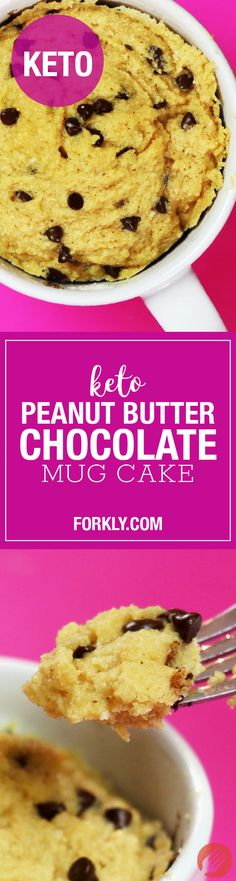 Keto Peanut Butter Chocolate Mug Cake: Keto Dieters - Make this cake, and eat it too!! Finally, something to satisfy your cake cravings.