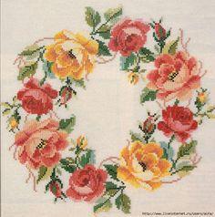 Скатерть, венок викторианских роз. Обсуждение на LiveInternet - Российский Сервис Онлайн-Дневников
