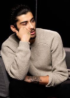 He is spectacular, even in a bulky sweater.