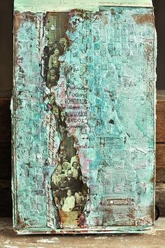 art. journal; mix media - Love the feel of the lineage of ancestral lines, as well as the superb texture.