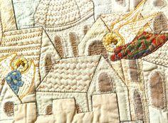 CITY OF ANGELS Art Quilt Home Decor Appliqued by BozenaWojtaszek, $600.00