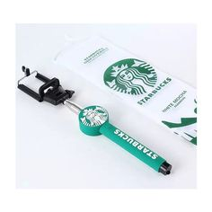 starbucks selfie stick ($40) ❤ liked on Polyvore featuring starbucks and tech