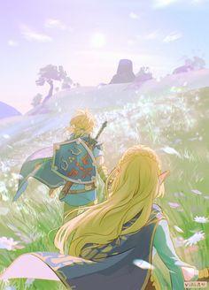 The Legend Of Zelda, Legend Of Zelda Breath, Link Botw, Image Zelda, Link Zelda, Breath Of The Wild, Fanarts Anime, Fire Emblem, Game Art