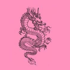 Bedroom Wall Collage, Photo Wall Collage, Tattoo Sketches, Tattoo Drawings, Body Art Tattoos, Small Tattoos, Small Dragon Tattoos, Chinese Dragon Tattoos, Tatoos