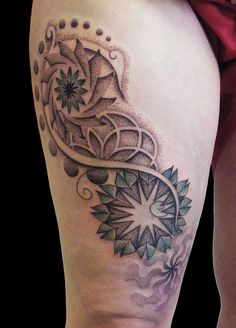 dotwork pattern tattoo by punktum tattoo, via Flickr