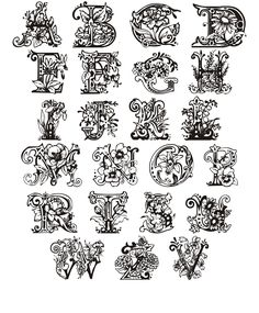 Gothic Lettering, Tattoo Lettering Fonts, Hand Lettering Alphabet, Watercolor Lettering, Alphabet Art, Lettering Styles, Lettering Design, Calligraphy Fonts Alphabet, Tattoo Fonts Alphabet