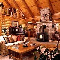 Bed Buggy Inn Bed and Breakfast, Log Home - Manhattan, Kansas Great Birthday Idea! Bed And Breakfast, Breakfast Ideas, Log Homes, Lodges, My Dream Home, Accent Decor, Sweet Home, Rustic, Living Room
