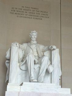 Lincoln Memorial. Beautiful!