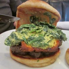 The Naan Burger finalist (and winner) in the #5NDreamBurger Challenge at 5 Napkin Burger