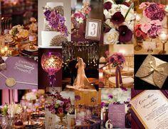 Plum, lavender, burgundy great gatsby wedding decor