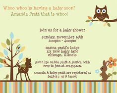 Forest Friends Baby Shower invite