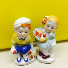 Occupied Japan Figurines Small Child Figurines by ChristmasMemory