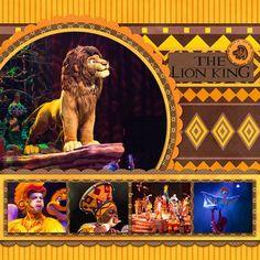 Disney Animal Kingdom Lion king scrapbook layout