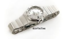 Omega Constellation 123.10.31.20.55.001 Mother of Pearl Diamond Dial Ladies Watch For Sale : KeepTheTime.com Watch Shop