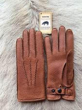 Men's Peccary Leather Gloves Black brown cognac cork gray taupe all size's