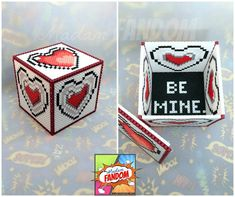 Zelda Heart Box with Lid - Choose Your Message! - Father's Day Gift Legend of Zelda - Geeky Gift Box - Wedding Centerpiece Table Decor Hama Beads, Perler Bead Art, Gift Boxes With Lids, Box With Lid, Zelda Gifts, Gift Cards Money, Geek Wedding, Gamer Gifts, Valentine Box