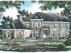 Eplans French Country House Plan - Timeless Country French Elevation - 4329 Square Feet and 4 Bedrooms from Eplans - House Plan Code HWEPL14406