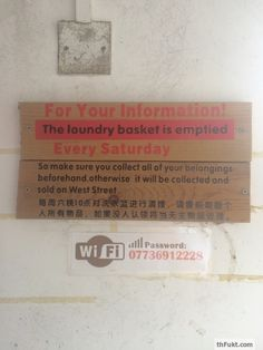 China: How they treat your belongings