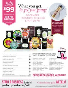 December Consultant Kit. Perfectly Posh.