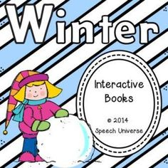 "This is a set of two interactive books.  The first book is Winter Clothes.  This book has students use visual icons to create sentences in a book.  The book has a repetitive sentence...""I wear _____ in the winter"" that is repeated throughout the 10 pages."