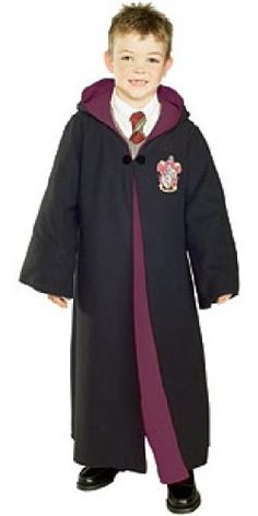 Harry Potter Child's Costume Deluxe Harry Potter Gryffindor Robe, Medium: Clothing