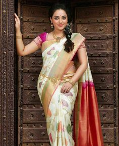 Samudrika Pattu, the sarva lakshana pattu that makes pattu sarees to beautify the elegance of femininity. Every drape is quite adorning with our Samudrika Pattu Sarees! Beautiful Girl Indian, Most Beautiful Indian Actress, Beautiful Saree, Indian Fashion Modern, Latest Indian Fashion Trends, South Indian Actress Photo, Girl Fashion Style, Woman Style, Indian Beauty Saree
