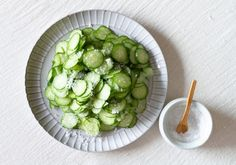 Kyuri asazuke (pickled cucumber) from the food blog of Australian artist Kirra Jamison. food-styling