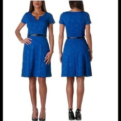 Beautiful Deep Blue Moa Dress - Size Small This is a Beautiful Deep Blue Moa Dress - Size Small - Brand new never been worn! Has belt loops for a belt (a white belt would make it pop!) but when I purchased this it didn't come with a belt - Details: 95% Polyester, 5% Spandex Moa Moa Dresses Maxi