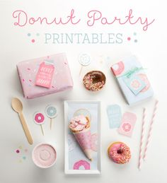 Go nuts for donuts with our donut party printables! | Donut Party Printables - Tinyme Blog