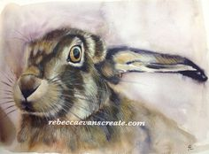 6#worldwatercolormonth back to the hares