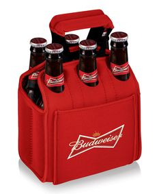 Love this Red Budweiser Six-Beverage Carrier by Picnic Time on #zulily! #zulilyfinds