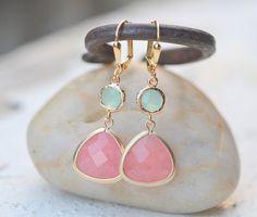 Coral Pink and Aqua