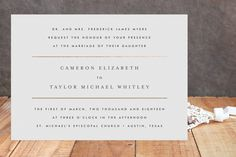 Gold Bars Foil-Pressed Wedding Invitations by Fig ... | Minted