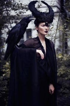 """The Morrígan (""""phantom queen"""") is a goddess of battle, strife, and sovereignty. She sometimes appears in the form of a crow, flying above the warriors."""