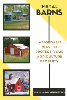 Metal Carports Direct provides the best quality metal barn kits at the lowest metal barn prices. Choose us to get your favorite metal barn kits Metal Barn Kits, Metal Shed, Metal Carports, Metal Garages, Prefab Metal Buildings, Rv Shelter, Metal Building Kits, Steel Barns, Agriculture