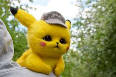 This Handmade Detective Pikachu Doll is Fully Posable Pikachu Pikachu, Baby Animals Super Cute, Cute Kawaii Animals, Cute Little Animals, Cute Fantasy Creatures, Cute Creatures, Pikachu Drawing, Cute Teacup Puppies, Baby Animals Pictures