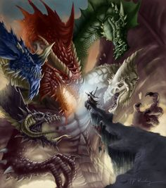Takhesis vs. Paladine from Dragonlance